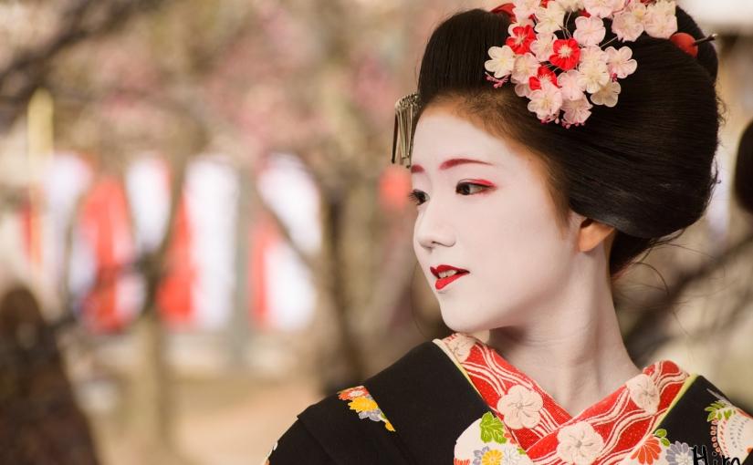 Kimono dan make-up ala Geisha diKyoto